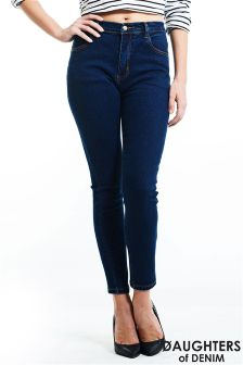 Daughters Of Denim Dark Wash Skinny Jeans