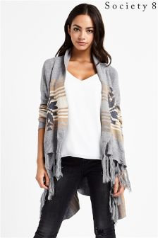 Society 8 Waterfall Cardigan