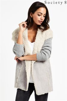 Society 8 Shearling Coatigan