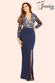 Jessica Wright Long Sleeve Lace Dress