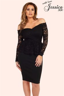 Jessica Wright Lace Bardot Dress