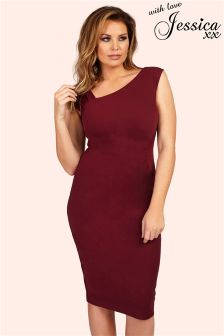 Jessica Wright Ruched Shoulder Dress