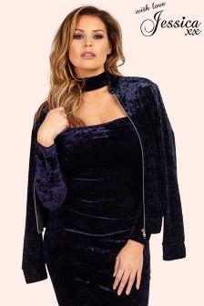 Jessica Wright Velvet Bomber Jacket