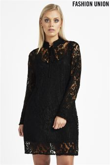Fashion Union Lace Shift Dress