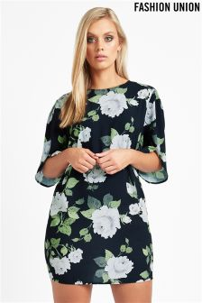 Fashion Union Curve Floral Print Shift Dress
