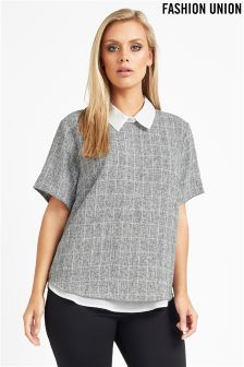 Fashion Union Curve T-shirt Blouse