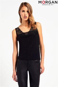Morgan Sheer Bust Lace Cami Top