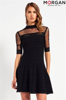 Morgan Knitted Fit And Flare Dress
