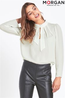 Morgan Reversible Tie Neck Blouse