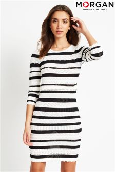 Morgan Varied Knit Pattern Stripe Bodycon Dress