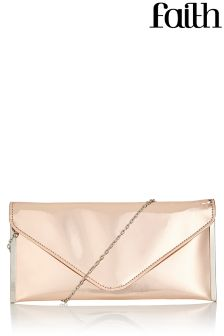 Faith Metallic Clutch Bag
