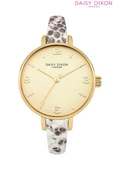 Daisy Dixon Metallic Snake Strap Watch