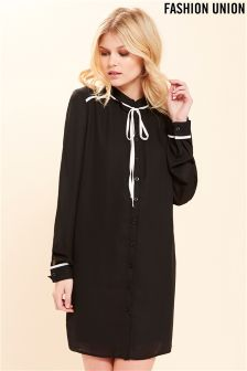 Fashion Union Bow Tie Shirt Dress