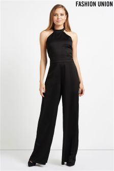Fashion Union Classic Satin Jumpsuit