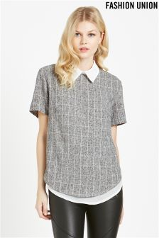 Fashion Union Woven T-shirt Blouse