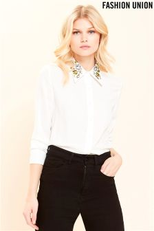 Fashion Union Embroidered Day Shirt