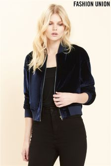 Fashion Union Embroidered Bomber