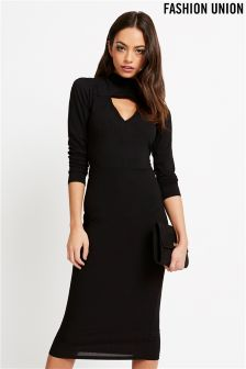 Fashion Union Keyhole Bodycon Dress