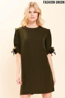 Fashion Union Tie Detail Shift Dress