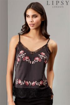 Lipsy Embroidered Satin Cami