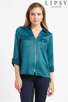 Lipsy Satin Zip Shirt