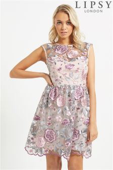 Lipsy Embroidery Sweetheart Prom Dress