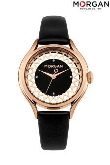 Morgan Leather Strap Watch