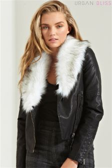Urban Bliss Fur Collar Jacket