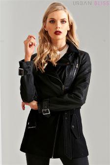 Urban Bliss Wool PU Mix Jacket