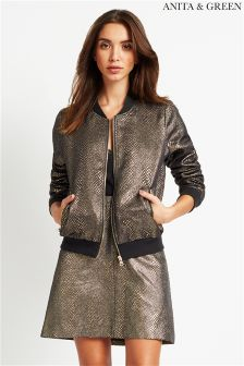 Anita & Green Metallic Bomber Jacket