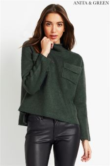 Anita & Green Jumper With Front Pocket Detail
