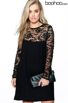 Boohoo Plus Lace Detail Dress