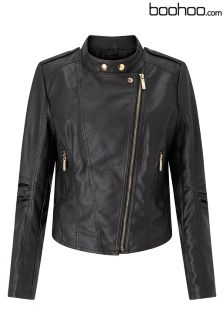 Boohoo Plus PU Biker Jacket
