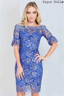 Paper Dolls Crochet Lace Bardot Dress
