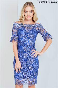 Paper Dolls Crochet Lace Bardot Dress