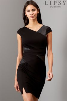 Lipsy PU Detail Bodycon Dress
