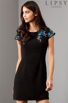 Lipsy Orchid Embroidery Artwork Shift Dress