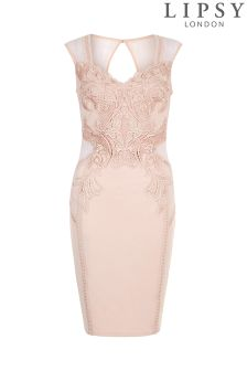 Lipsy Love Michelle Keegan Applique Detail Bodycon Dress