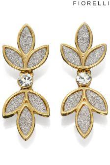 Fiorelli Glitter Flower Drop Earring