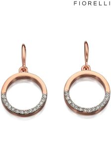 Fiorelli Crystal Ring Drop Earrings