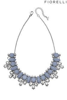 Fiorelli Glass Crystal Cluster Necklace