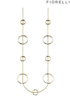 Fiorelli Circle Station Long Necklace