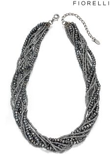 Fiorelli Costume Rhodium Twisted Rope Necklace