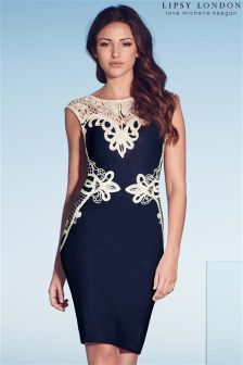 Lipsy Love Michelle Keegan Lace  Appliqué Shift Dress