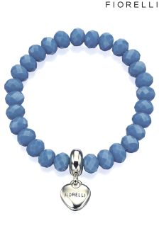 Fiorelli Stretch Cornflower Bracelet With Heart Charm