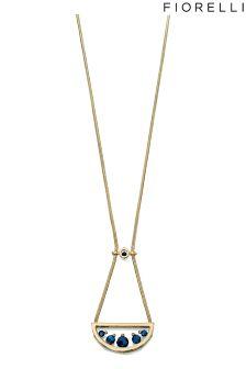Fiorelli Titanium Beads Semi Circle Pendant Necklace