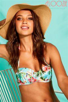 Floozie Treasure Island Print Bikini Top