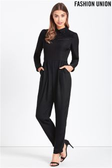 Fashion Union Embroidered Jumpsuit