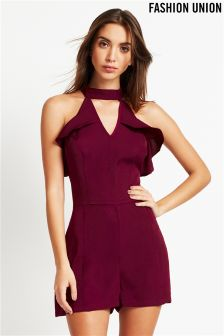 Fashion Union Frill Mini Dress