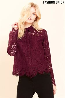 Fashion Union Classic Lace Shirt